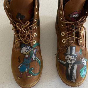 Custom Painted Timberland Boot